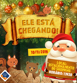 Papai Noel chega no Shopping da Gente!