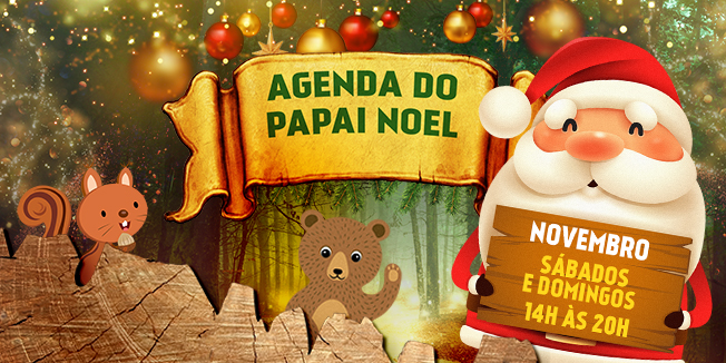 O Papai Noel chegou no Shopping da Gente